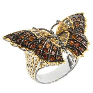 Michael Valitutti Two-tone Multi-gemstone Butterfly Ring