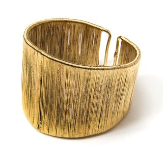 Handmade Brass Wire Cuff (India)
