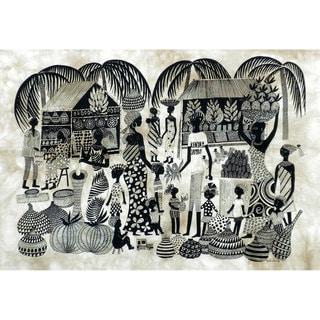 , Handmade in Kenya Market Heidi Lange Screen Print , Handmade in Kenya