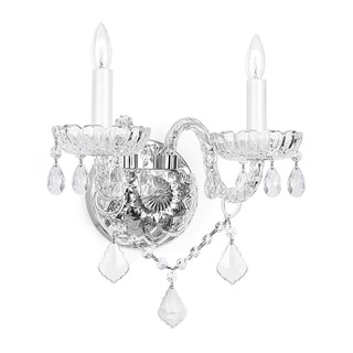 Venetian Crystal 2-light Wall Sconce