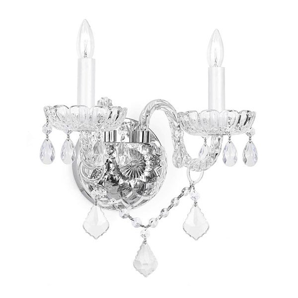 Gallery Venetian Crystal 2-light Wall Sconce