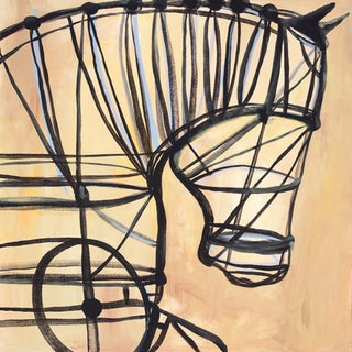 JC Pino 'Mechanical Horse' Paper Print (Unframed)