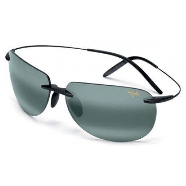 Maui Jim Unisex 'Nakalele' 527 02 Titanium Polarized Sunglasses