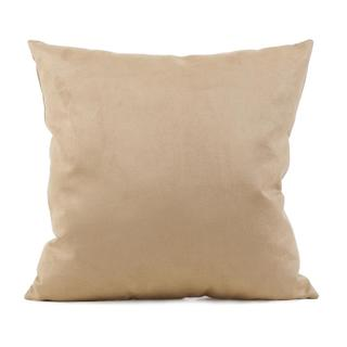 Microsuede Sandstone Square Decorative Pillow