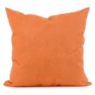 Microsuede Tangerine Square Decorative Pillow