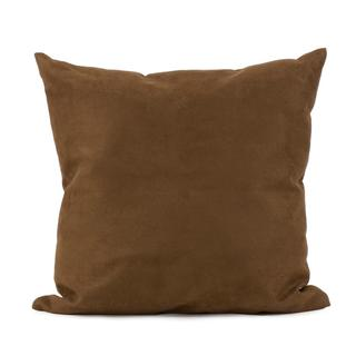 Microsuede Chocolate Square Decorative Pillow
