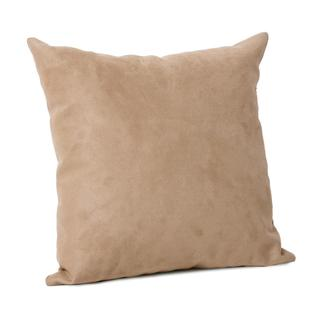 Microsuede Beige Pillow (16 x 16)