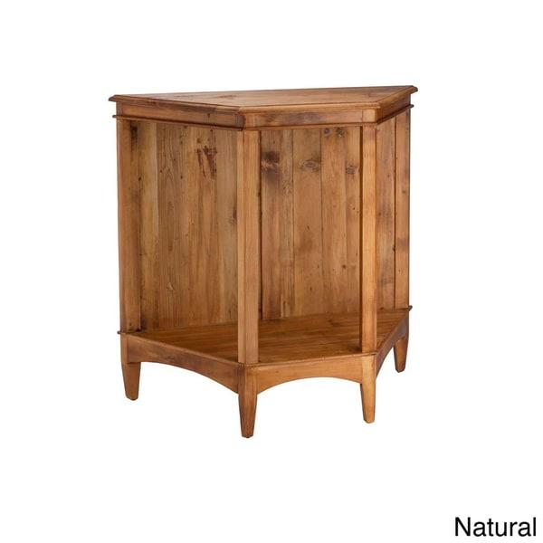 Solid Wood Trapezoid Display Shelf