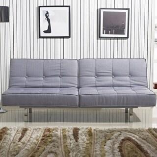 Salvador Grey Tufted Sleeper Sofa Bed