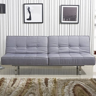 Salvador Grey Tufted Sleeper Sofa Bed