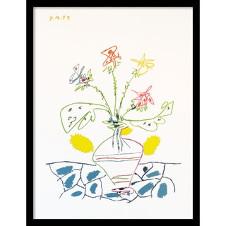 Pablo Picasso 'Vase with Flowers' Framed Art Print