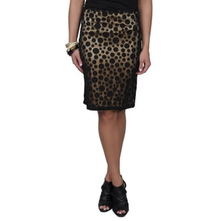 Journee Collection Women's Polka-dot Overlay A-line Skirt