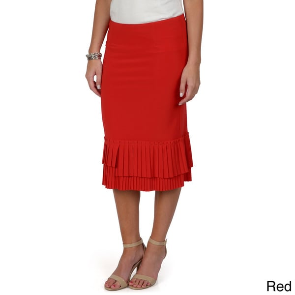 Journee Collection Women's Lined Ruffle Accent Skirt