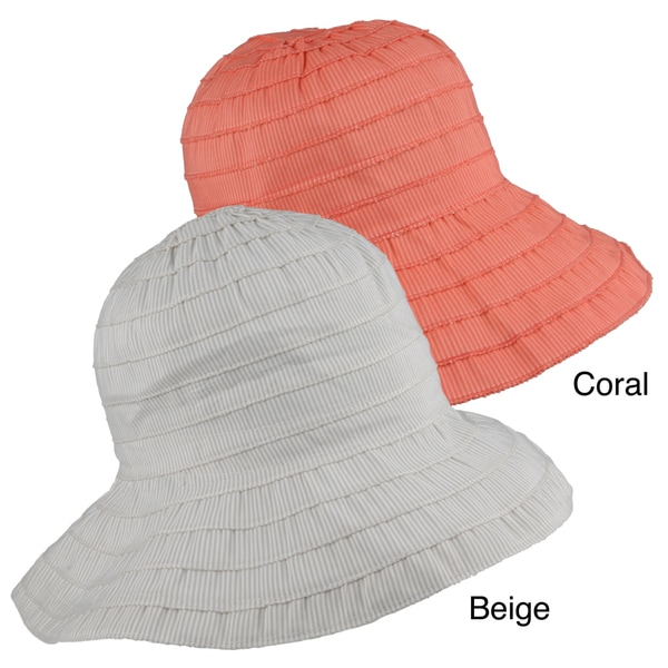 Journee Collection Women's Brimmed Ribbon Bucket Hat