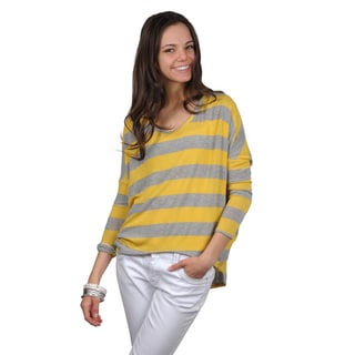 Journee Collection Juniors Long Sleeve Striped Top