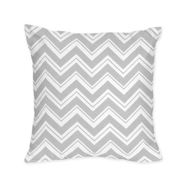 Sweet Jojo Designs Grey Chevron Zigzag Throw Pillow - 15319240 - Overstock.com Shopping - Great ...