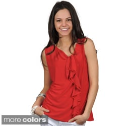 Journee Collection Women's Ruffled Sleeveless Top