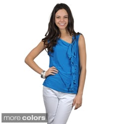 Journee Collection Juniors Ruffled Sleeveless Top
