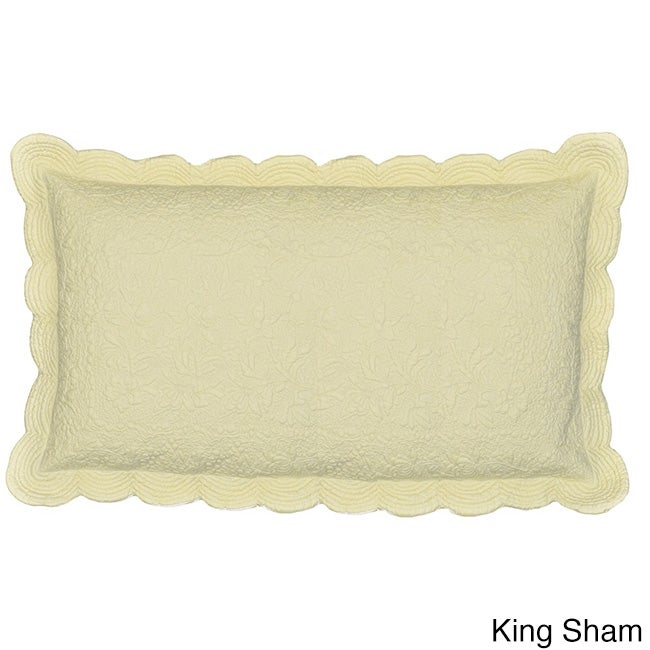 Cottage Home Matelasse Cotton 100 Thread Count Cream Sham at Sears.com