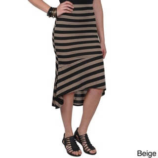 Journee Collection Juniors Striped Hi-low Skirt