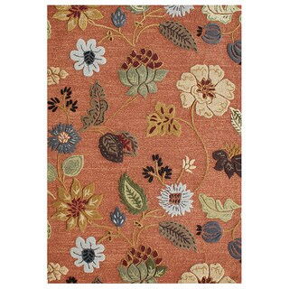 Alliyah Handmade Rust New Zealand Blend Wool and Viscose Silk Rug (5' x 8')
