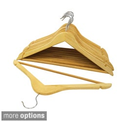 Florida Brand Wood Suit Hangers (Set of 48)