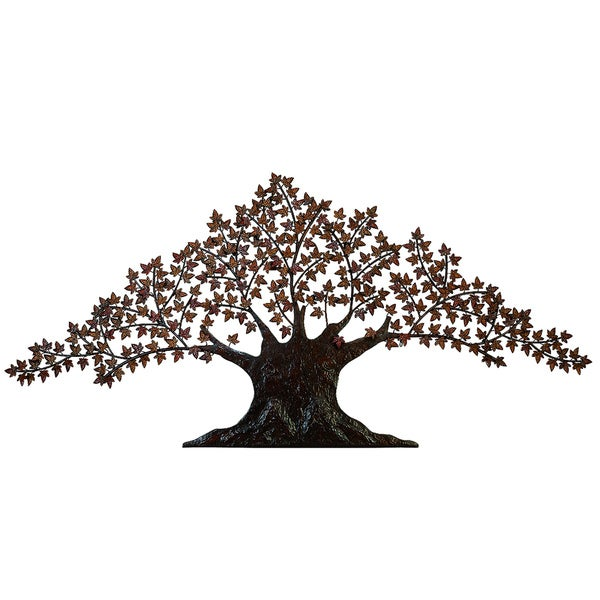 casa cortes handcrafted tree of life large metal wall art. Black Bedroom Furniture Sets. Home Design Ideas