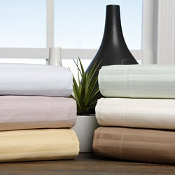 Egyptian Cotton 650 Thread Count Stripe Pillow Shams (Set of 2)