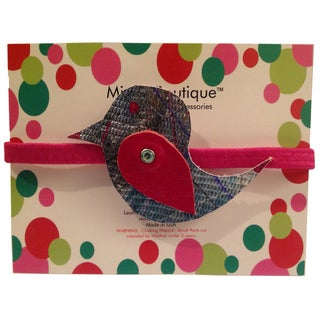 Mini e Boutique Hummingbird Leather Headband