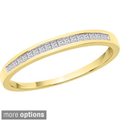 10k Gold 1/8ct TDW Princess-cut Diamond Wedding Band (G-H, I2-I3)