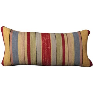 Mina Victory Stripe Blue 14 x 30-inch Decorative Pillow by Nourison