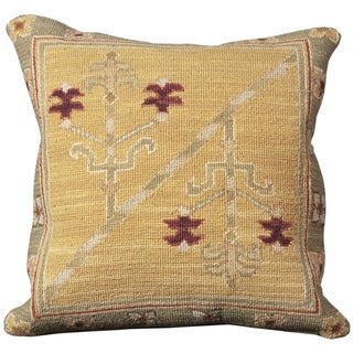 Mina Victory Yellow 20 x 20 inch Decorative Pillow by Nourison