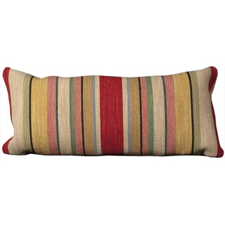 Mina Victory Stripped Ivory 14 x 30-inch Decorative Pillow by Nourison