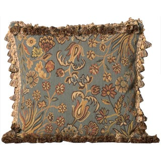 Mina Victory Blue Floral 20 x 20-inch Decorative Pillow by Nourison