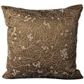 Mina Victory Crochet Fig Leaves Brown 20 x 20-inch Square Decorative by Nourison