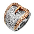 Sonia Bitton 14k Gold 2ct TDW Pave Diamond Buckle Ring (G-H, SI1-SI2)