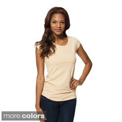 modbod Women's Basic Cap Sleeve
