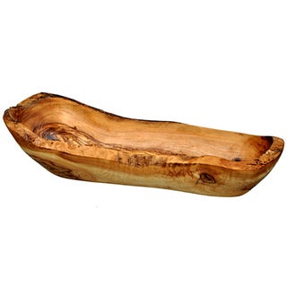 Handcrafted Olive Wood Bread Basket (Tunisia)