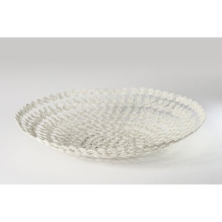 White Swirl Wire Basket (India)
