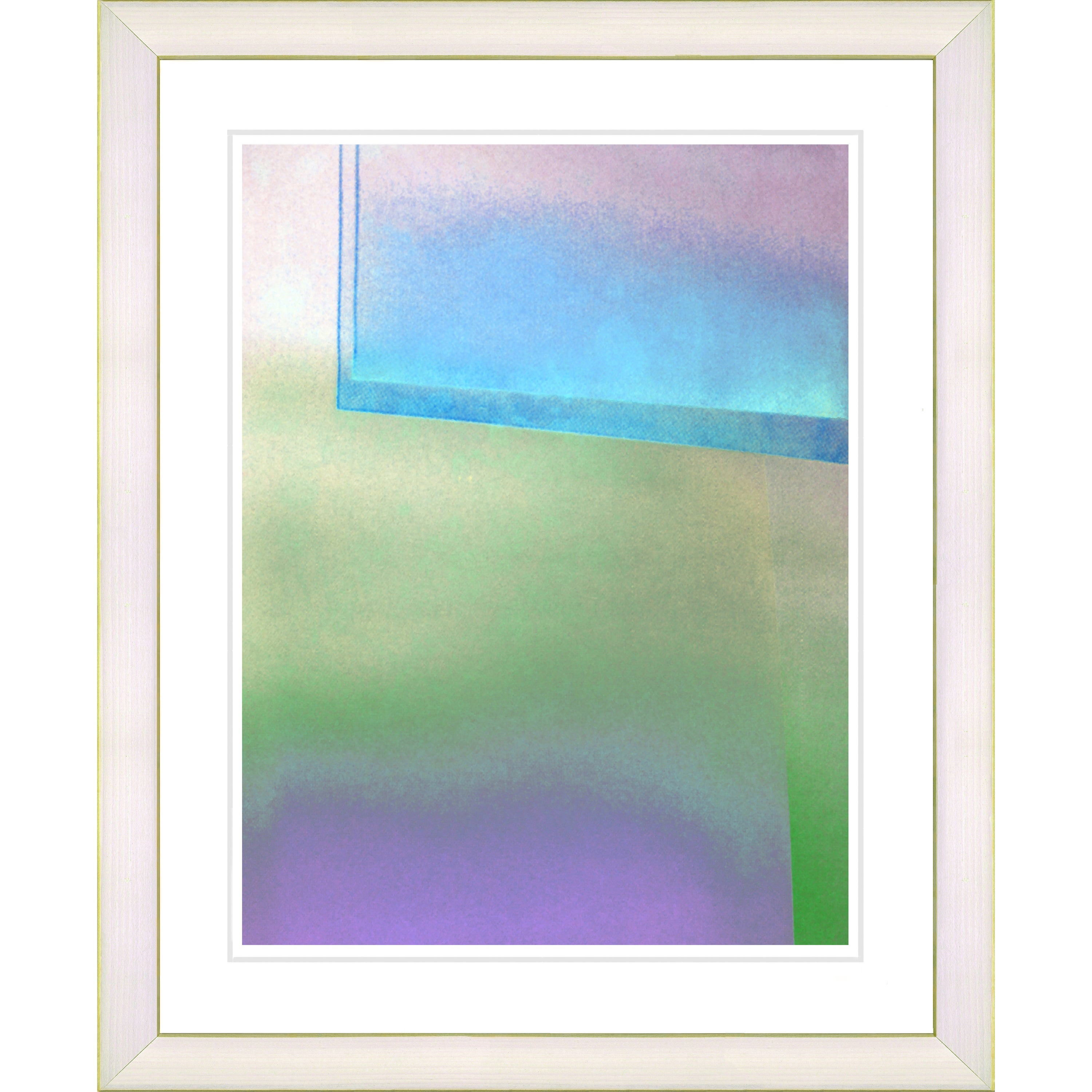 Overstock.com Zhee Singer 'Umfolozi - Blue' White Framed Print at Sears.com