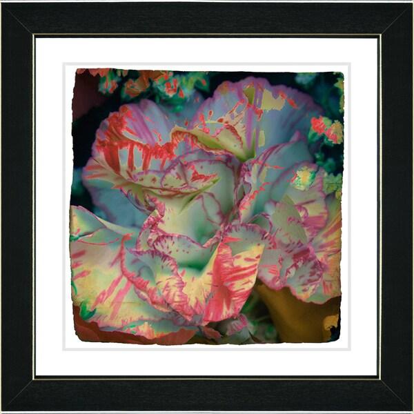 Studio Works Modern 'Hot Pink Carnation' Framed Print