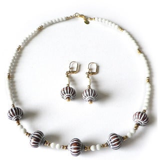 'Cognac and Cream' Jewelry Set