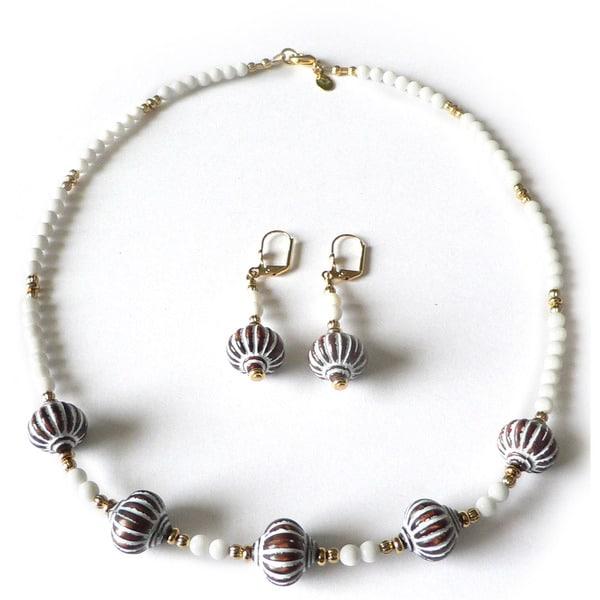 Cognac and Cream' Jewelry Set 11026910