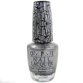 OPI Silver Shatter Crackle Nail Lacquer (Unboxed)