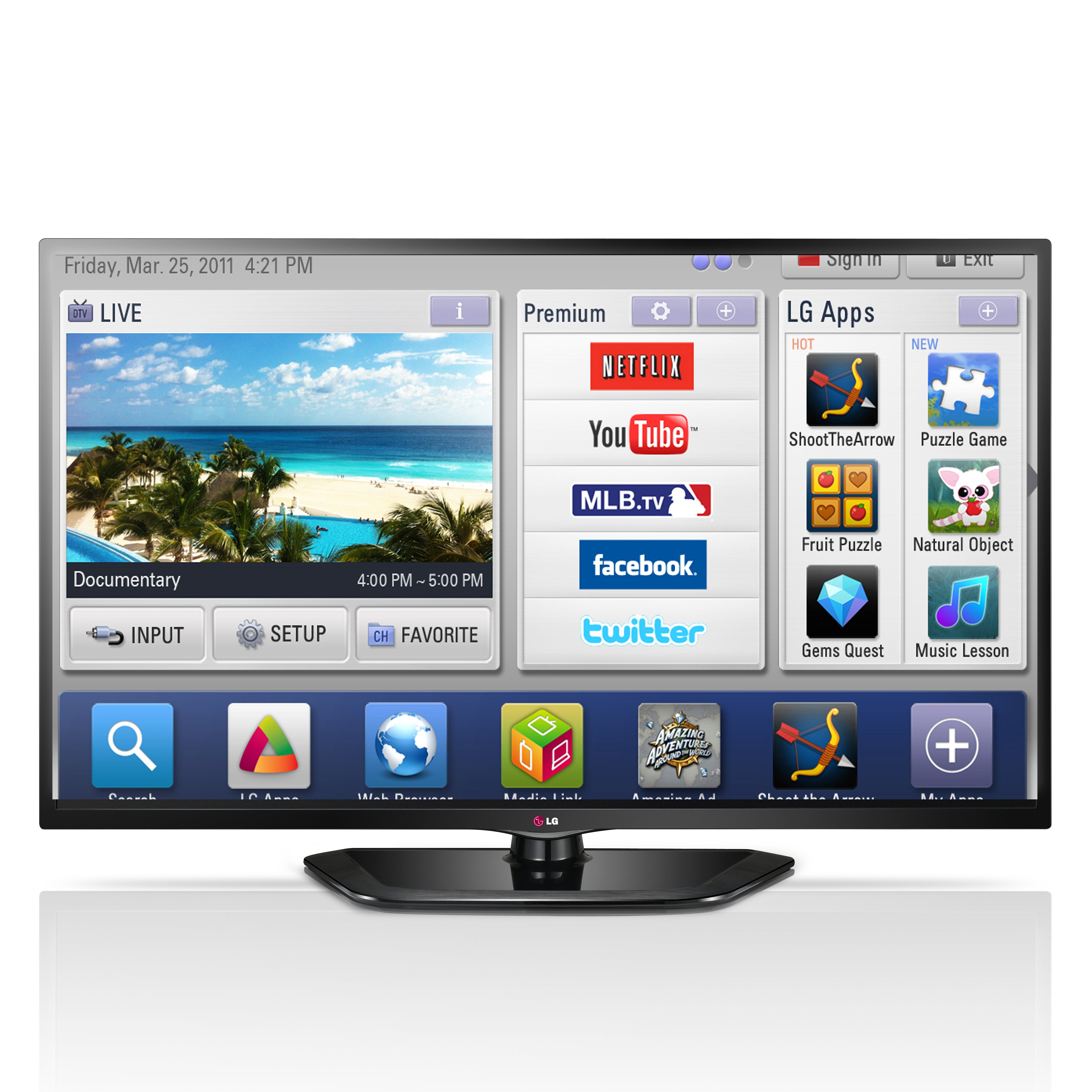 LG 32LB580V LED HD 1080p Smart TV, 32 with Freeview HD at