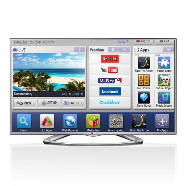 """LG 60LN6150 60"""" 1080p 120Hz LED Smart TV"""