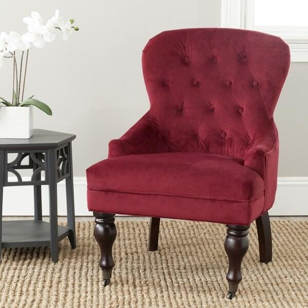 Safavieh Sutton Tufted Red Arm Chair