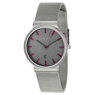 Skagen Men's Grey Slimline Mesh Band Watch