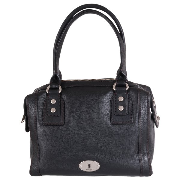 Fossil 'Marlow' Black Leather Satchel