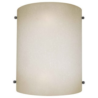 Cambridge Brushed Nickel Finished Wall Sconce/Umber Mist Shades